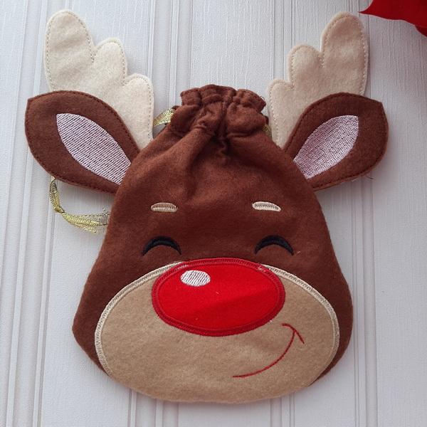 Reindeer Drawstring Bags-12