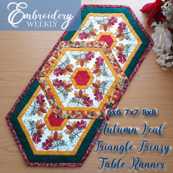 Autumn Leaf Triangle Frenzy Table Runner