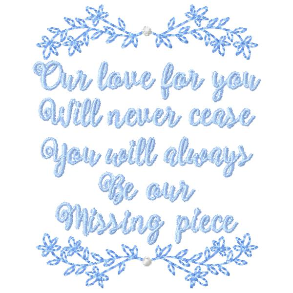 Missing Piece, FromTheNeedleOfAnne