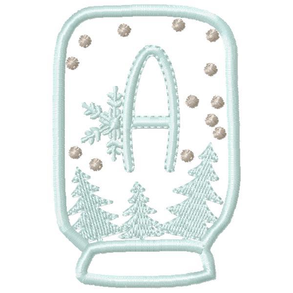 SnowGlobe Alphabet A