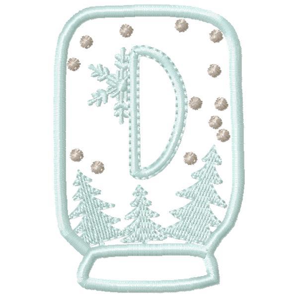 SnowGlobe Alphabet D