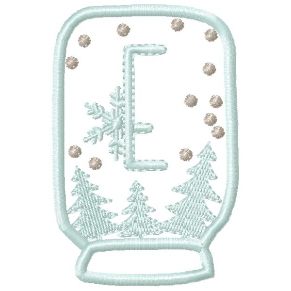 SnowGlobe Alphabet E