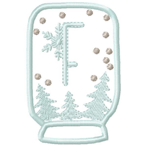 SnowGlobe Alphabet F