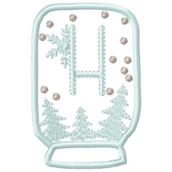 SnowGlobe Alphabet H