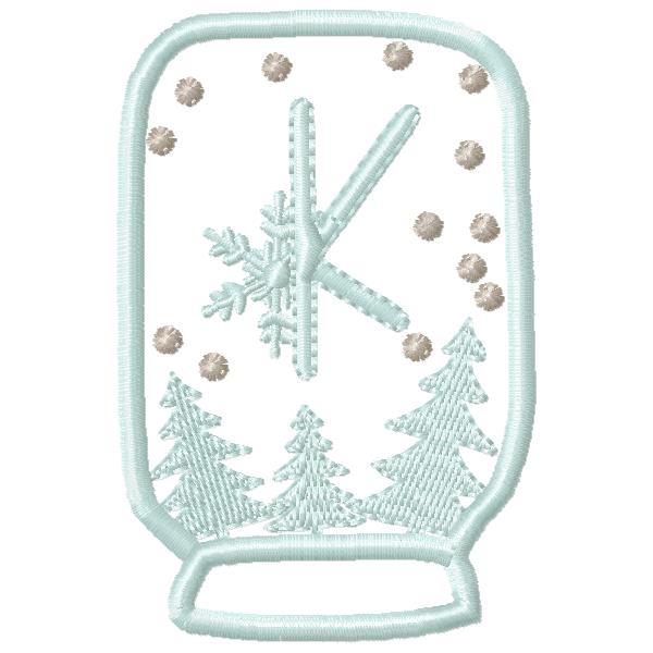 SnowGlobe Alphabet K