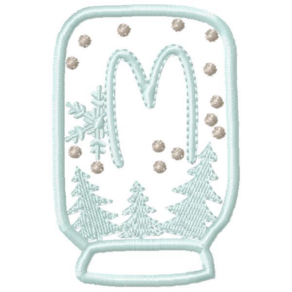 SnowGlobe Alphabet M