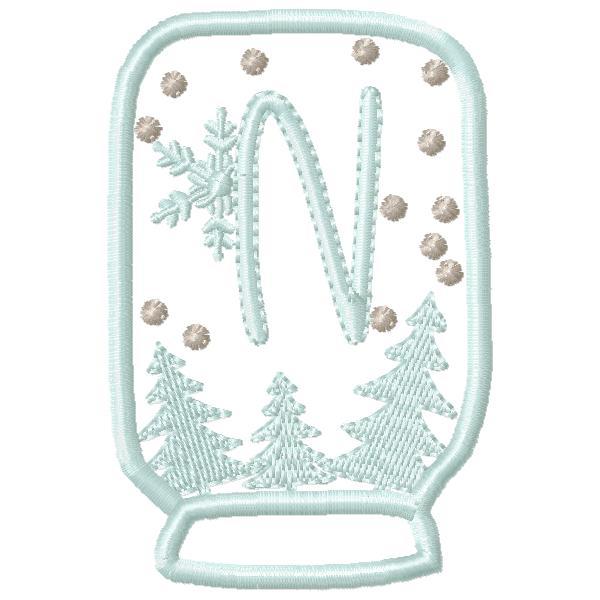 SnowGlobe Alphabet N