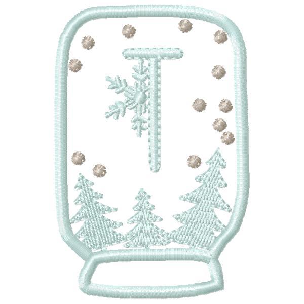 SnowGlobe Alphabet T