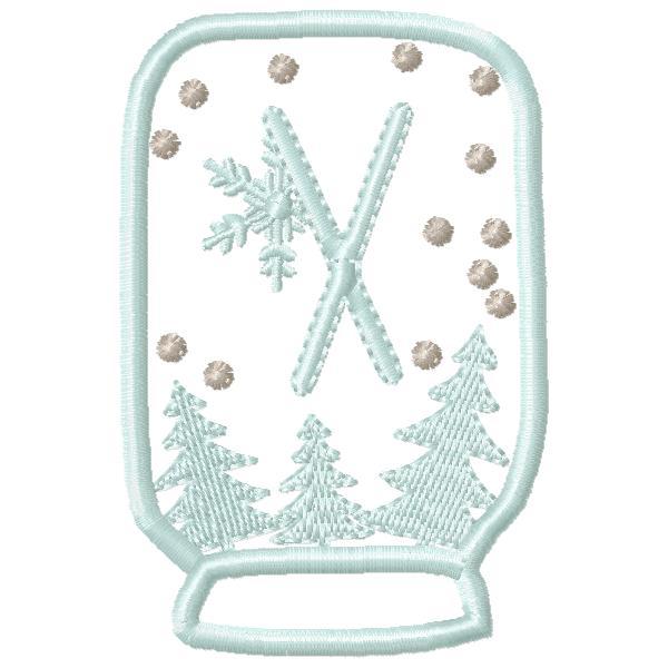 SnowGlobe Alphabet X