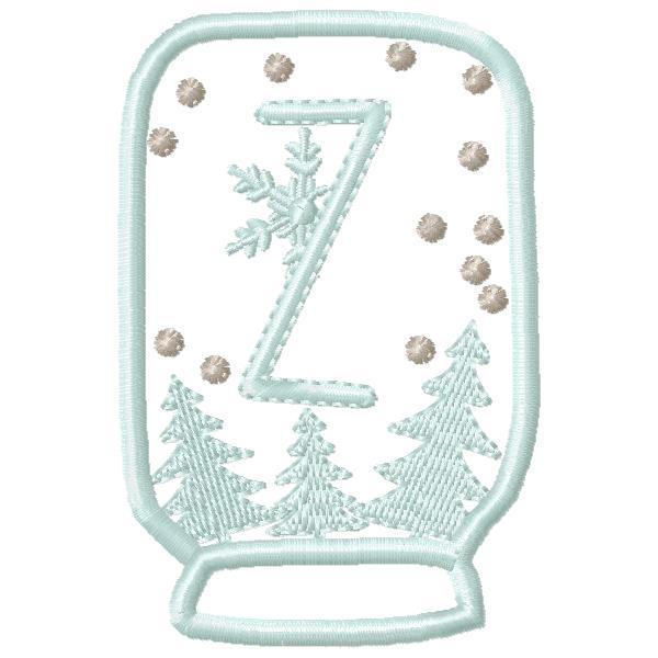 SnowGlobe Alphabet Z