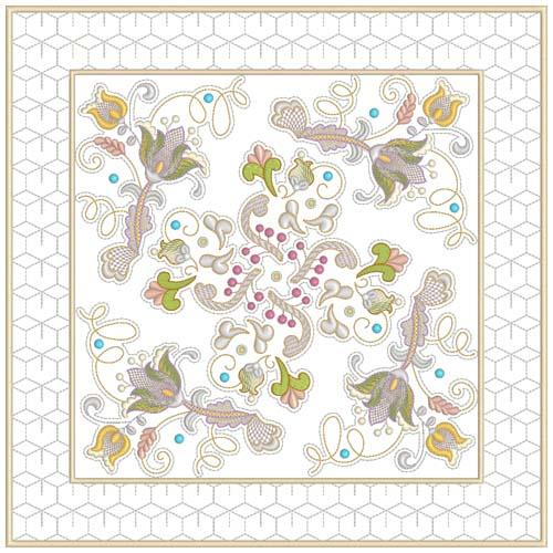INTRO PRICED: Jacobean Sampler Quilt Blocks-7
