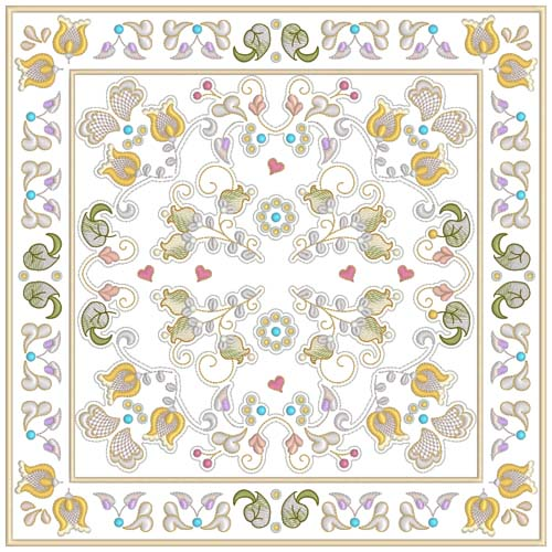 INTRO PRICED: Jacobean Sampler Quilt Blocks-22