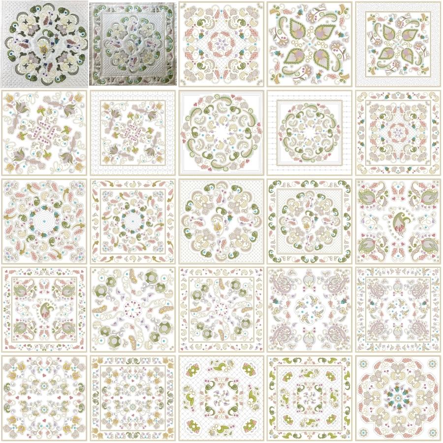 INTRO PRICED: Jacobean Sampler Quilt Blocks