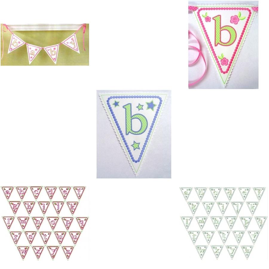 Baby Alphabet Pennants