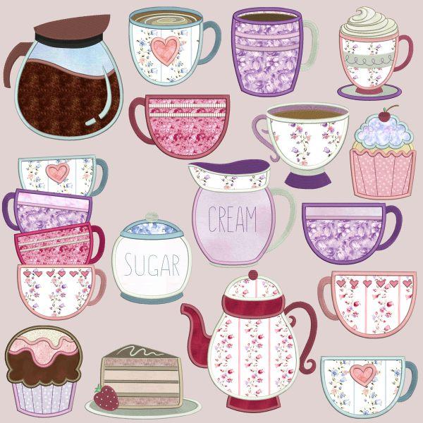 Coffee & Tea Applique -3