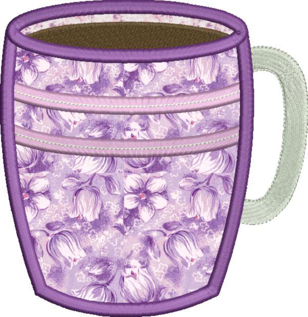 Coffee & Tea Applique -12