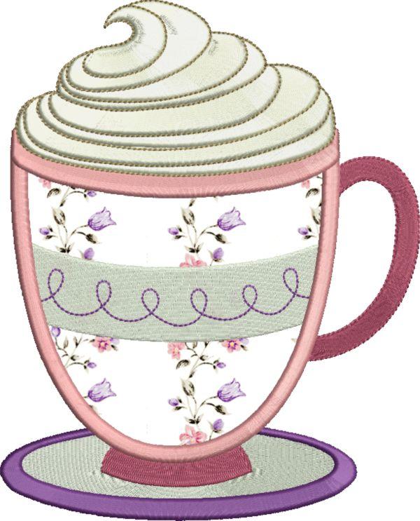Coffee & Tea Applique -13