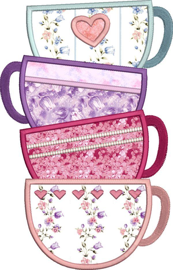 Coffee & Tea Applique -17