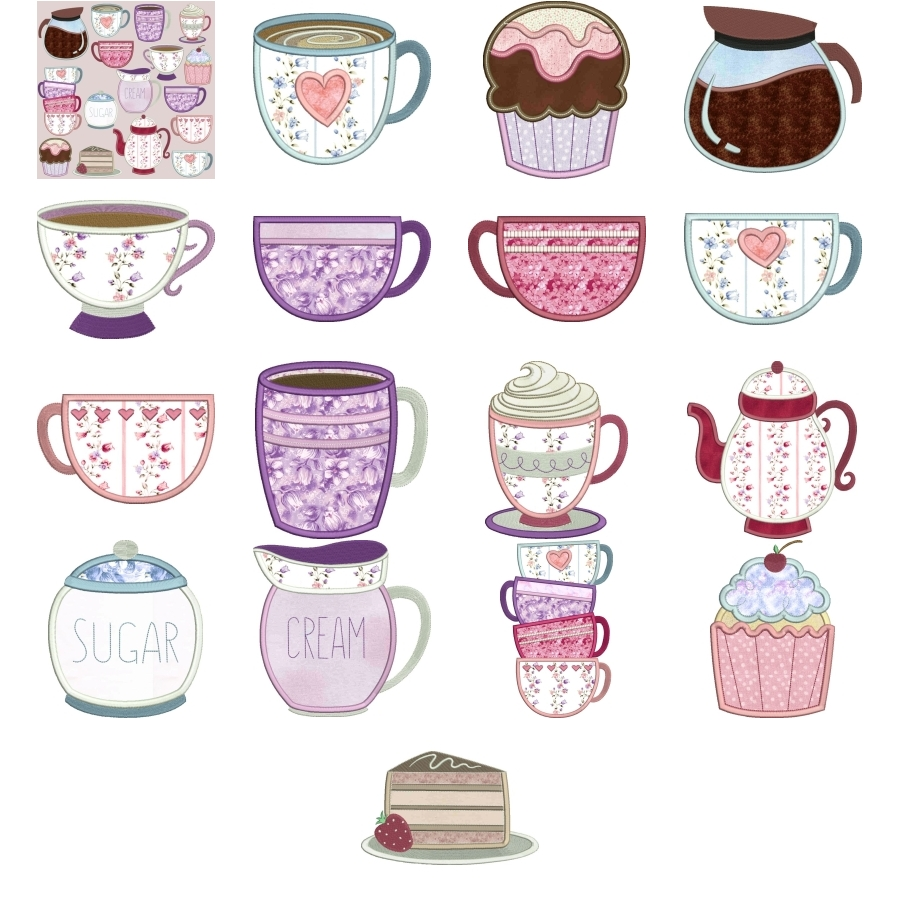 Coffee & Tea Applique