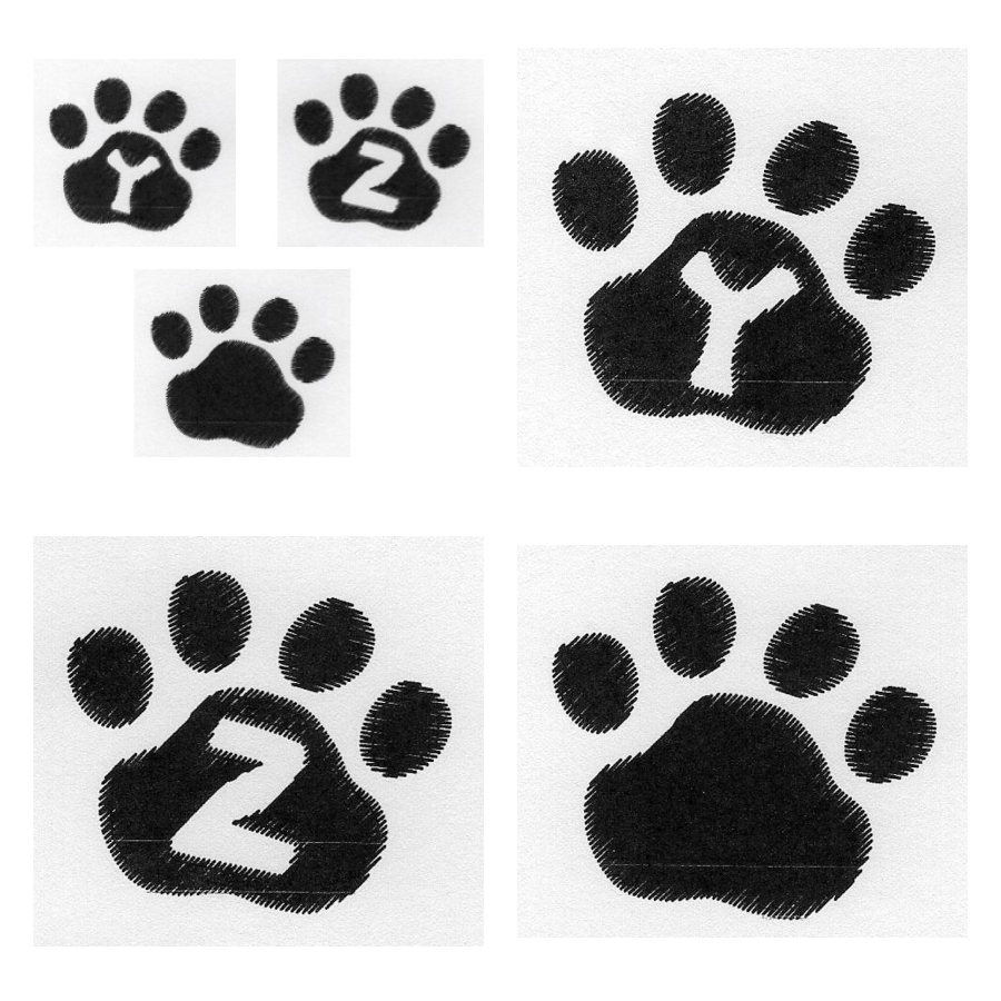 Cat Paw Trio YZ Blank