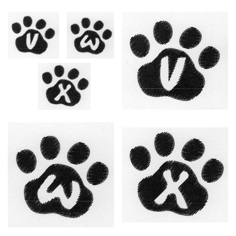 Cat Paw Trio VWX