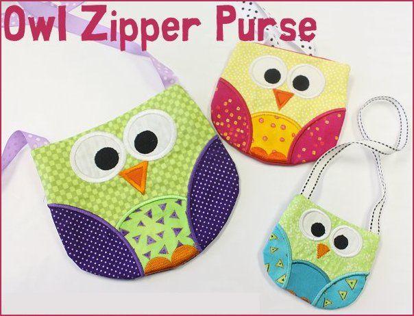 Owl Zipper Purse -3