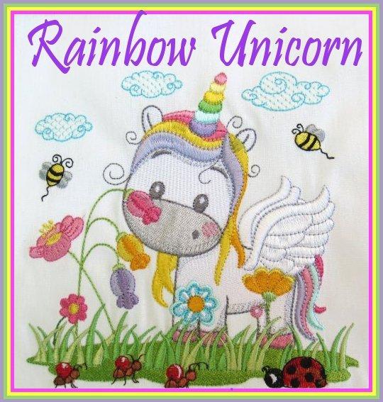 Critters in the Garden - Rainbow Unicorn