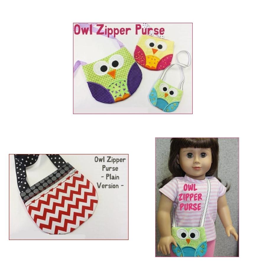 Owl Zipper Purse