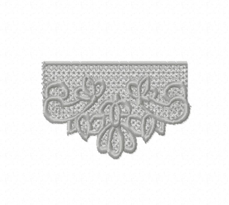Freestanding Lace Trim & Medallion-6