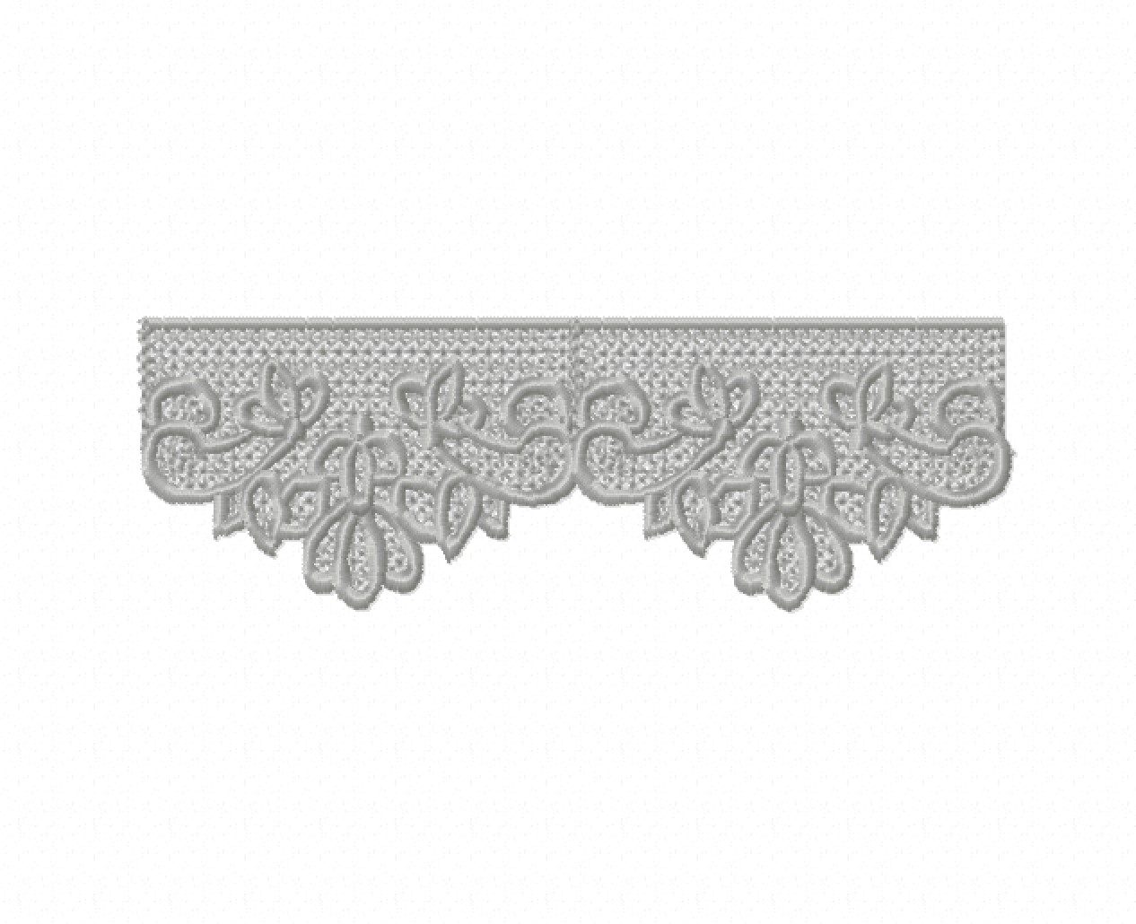 Freestanding Lace Trim & Medallion-7