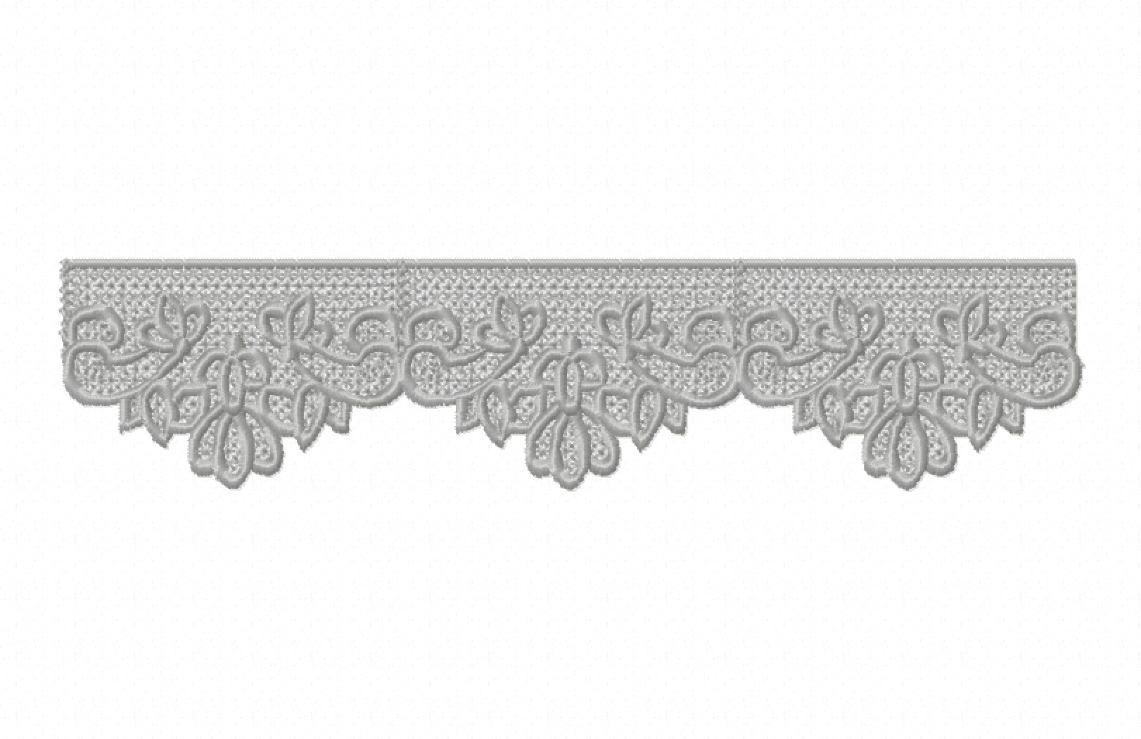 Freestanding Lace Trim & Medallion-8