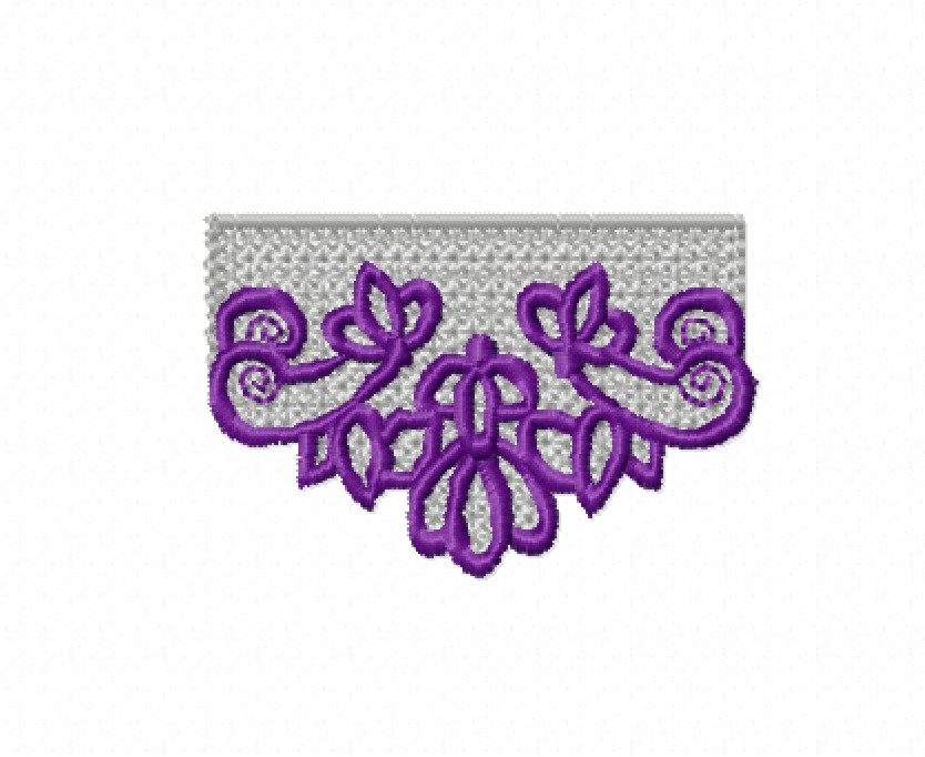 Freestanding Lace Trim & Medallion-10