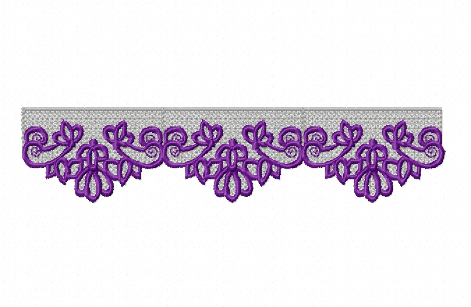 Freestanding Lace Trim & Medallion-12