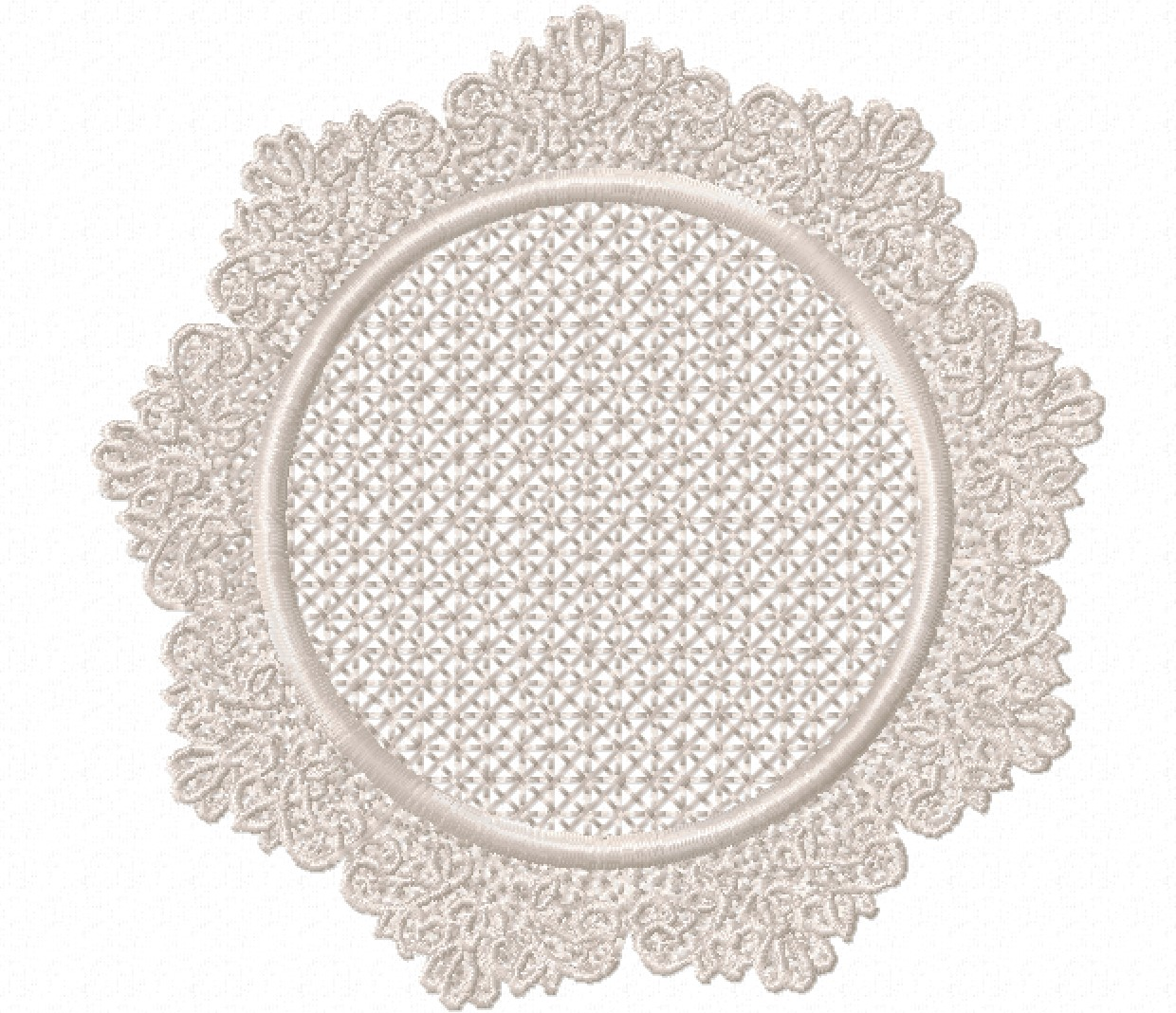 Freestanding Lace Trim & Medallion-14