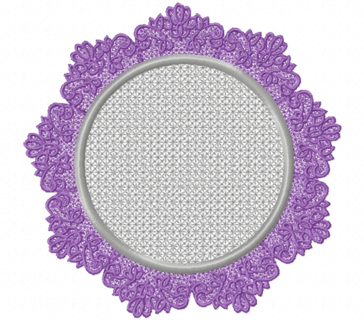 Freestanding Lace Trim & Medallion-15