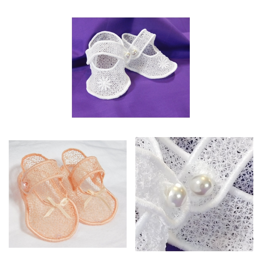 Freestanding Lace Baby Booties