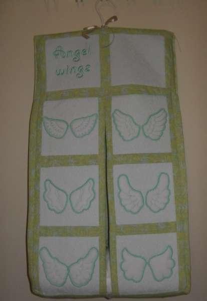 Angel Wings Trapunto Quilt Blocks -15