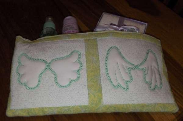 Angel Wings Trapunto Quilt Blocks -16