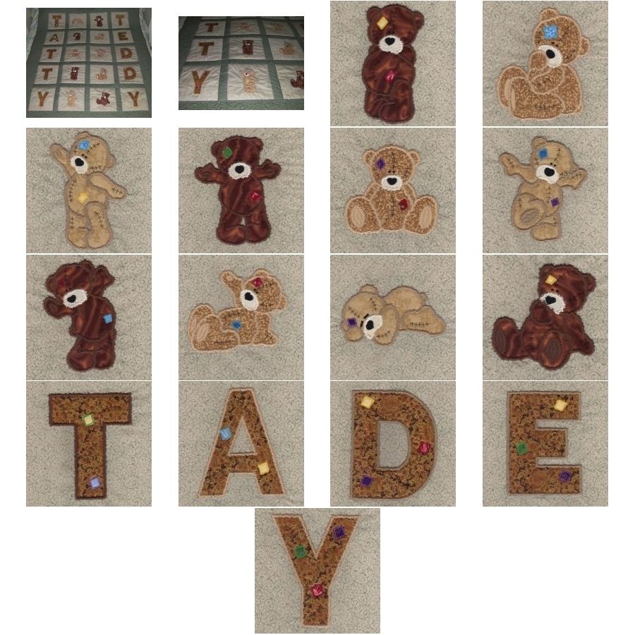 Applique Tatty Teddy