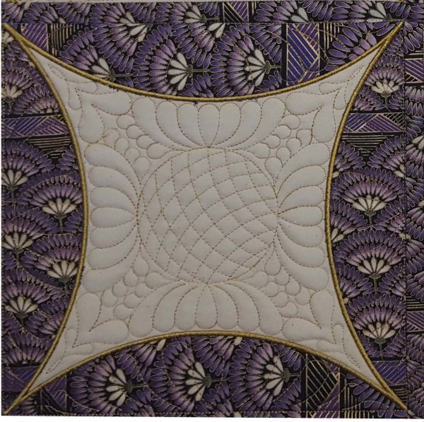 In The Hoop Cathedral Windows Quilt Block -6