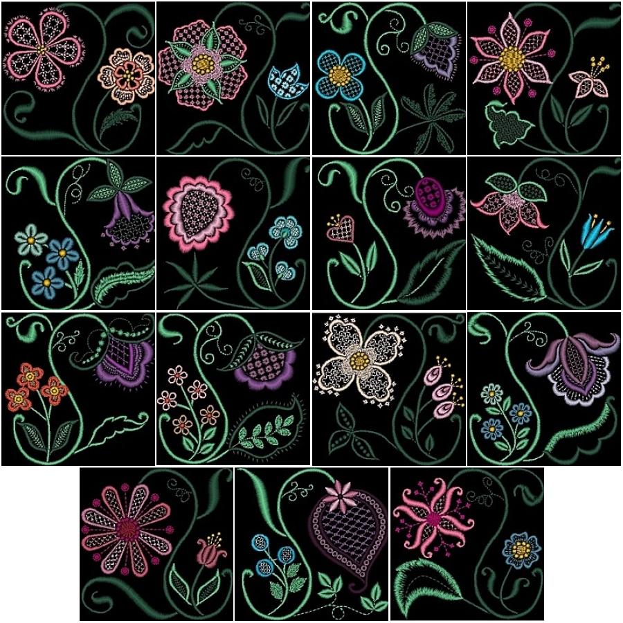 Garden Fantasy Quilt Complete Collection