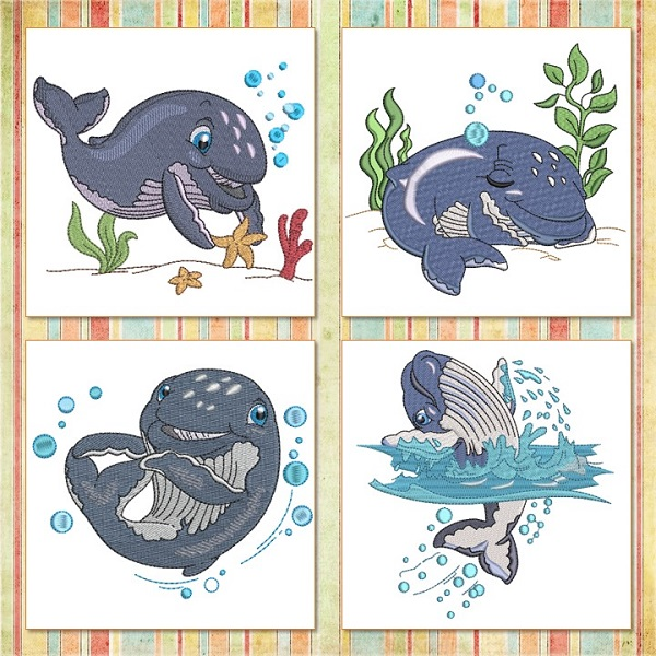 Baby Humpback Whale SET