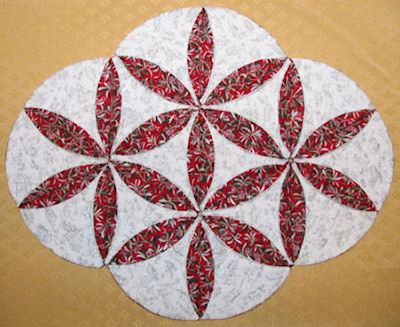 Cathedral Window Quilt Blocks Projects - Placemat