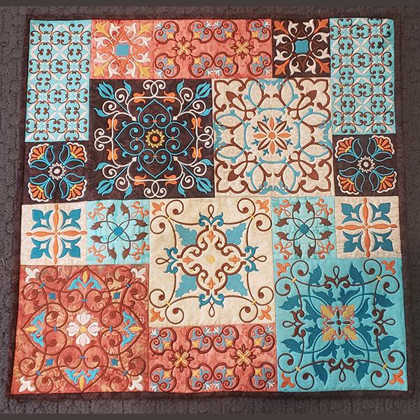 Moroccan Tile Quilt-3