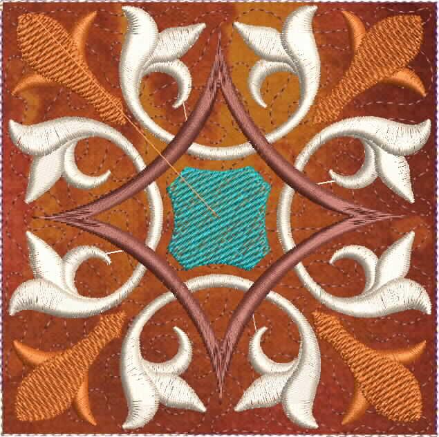 Moroccan Tile Quilt-5