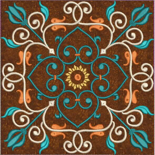 Moroccan Tile Quilt-6