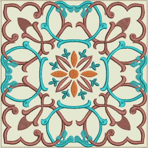 Moroccan Tile Quilt-7