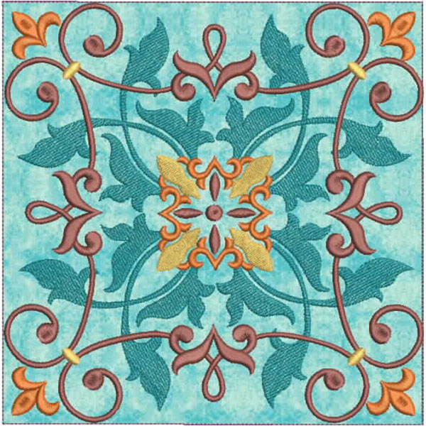 Moroccan Tile Quilt-8