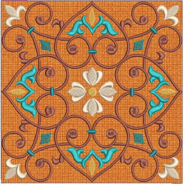 Moroccan Tile Quilt-9