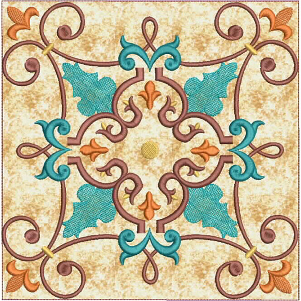 Moroccan Tile Quilt-10